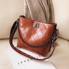Lady's Single Shoulder Bag / PU Leather Handbag brown 20cm *20cm*12cm