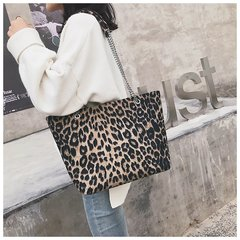 Leopard Pattern Tote Bag / PU Leather Handbag /Large Capacity Handbags Leopard Print one size