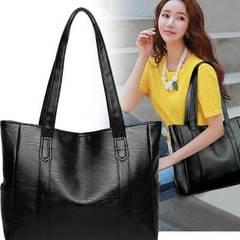 PU Leather Handbag /Large Capacity Handbags black one size