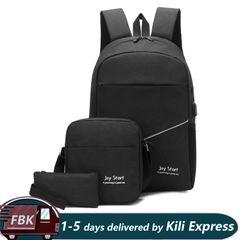Men's  Backpack  Men's Travel Bag Backpack handbag Tablet PC bag  School Bag black one size