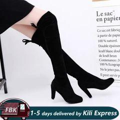 1 Pair Fashion High Heel Long Boots / Women's shoes/ Boots black EUR39