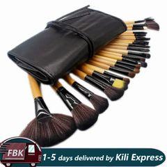 24 Pcs/Set  Makeup Brushes Set Make Up Brush High-quality Cosmetic Tools Brown
