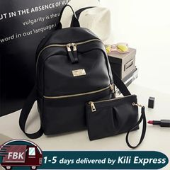 Fashion Backpack Bags / Female Backpack/ Ladies Backpacks / Bookbags black 25cm*10cm*30cm