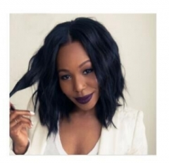 Hair Wigs For Black Women Remy Human Hair Bob Wigs black Pictured