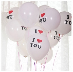 10pcs Heart Balloons  White Purple Latex Ballon Birthday Wedding Birthday Party Decoration WHITE DOT one size