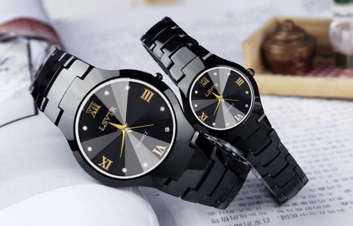 pack of 2 LSVTR Classic design lovers polishing waterproof  fine workmanship watch men&women watches B