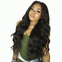 Luxurious Body Wigs For Africa Women Hair Synthetic Wigs Hair Wigs Women's Wigs Hair black as picture
