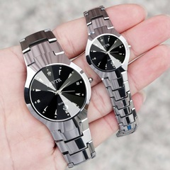 LSVTR Classic design lovers watch Have date polishing waterproof men&women watches with 5 gift! Silver&Black as picture