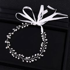 Ca.D Handmade hair band with pearls and diamonds for banquet & wedding headdress headband sliver as picture