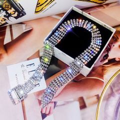 Ca.D Fashion bracelet full of diamond & can be used as a necklace personality jewelry shinny diamond Both bracelet and necklace