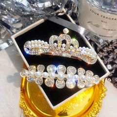 Ca.D Crown pearl shine hairpin female bb pin pin ins headdress Crown as picture
