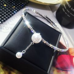 Ca.D Necklace full of diamond big pearl luxury necklace fashion new creative for wedding&party full shinny as picture