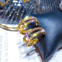Ca.D C earrings2019 new creative S925 silver needle earring s925 silver needle-gold as picture