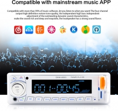 Audio Car Receiver| Hands Free Bluetooth, Plays USB/MP3/AM/FM/Smart Phones, AUX-IN, Wireless Remote