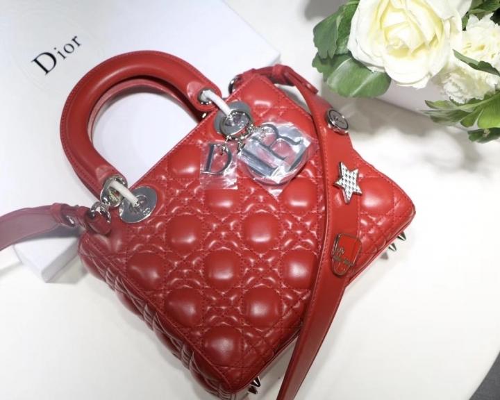 58dd25e4d03 2018 My Lady Dior Handbag Women Bag Latest Fashion Luxury Genuine Leather  Beauty Tops red 20