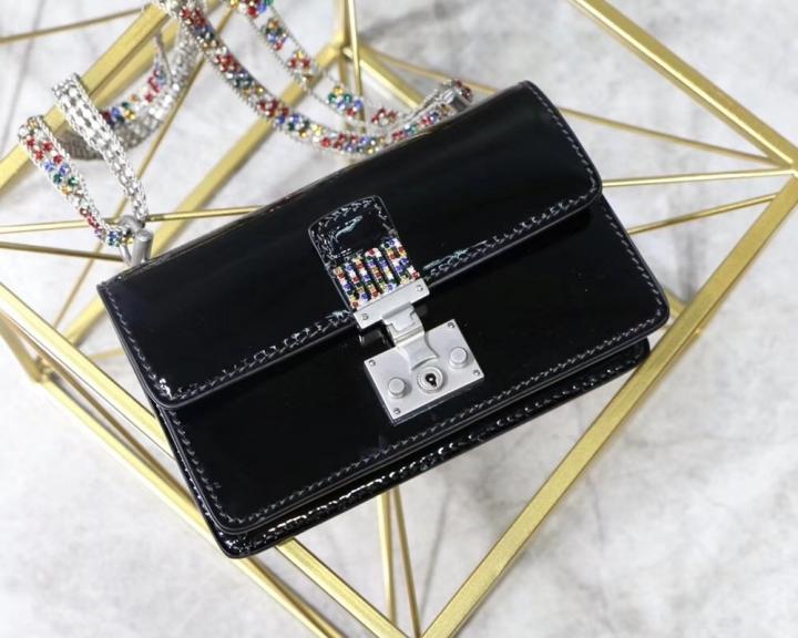 f0e4827fd550 2018 Dior Addict Handbag Women Bag Latest Fashion Luxury Genuine Leather  woc flap Tops black 18