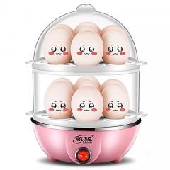 Double Boiler Household Egg Steamer Multifunction Double-Deck Egg Steamer CookerFor Kitchen Tops random