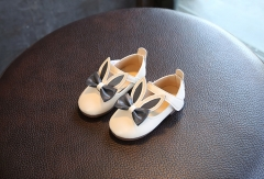 Fashion spring autumn kids shoes ,rabbit ears princess shoes,casual sneakers baby toddler shoes white 21