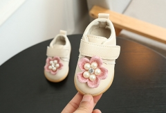 Fashion spring autumn kids shoes flowers princess shoes,casual sneakers baby toddler shoes white 15