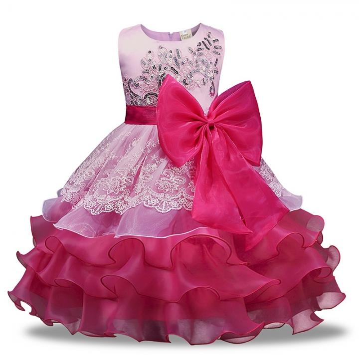 191849526 Girl Dress Summer Floral Baby Girls Dress Vestidos Wedding Party ...