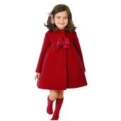 Fashion  hot sale Autum Winter  lovely bobywear Warm  Coat ,girl coat ,girl clothing red 100