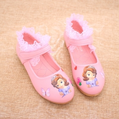 Fashion hot sale spring autumn girls shoes ,Princess shoes, fashion dance dress  shoes pink 26
