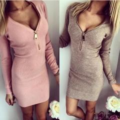 Fashion hot sale plus size sexy super elastic women clothing ,women dress pink m