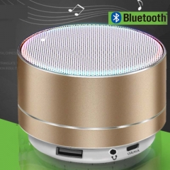 New Bluetooth speaker system aluminum alloy card mini speaker wireless Bluetooth subwoofer Sound Bar golden A10