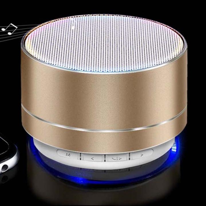 New Bluetooth speaker system aluminum alloy card mini speaker wireless Bluetooth subwoofer Sound Bar golden A10