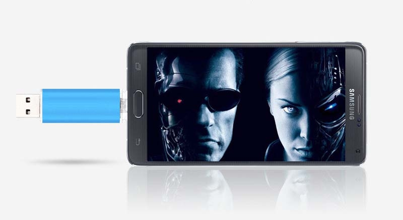 Mobile phone dual purpose OTG USB Android plug 32G flash disk  flashdisk  flash drive Memory Card blue yd-09 32G 2