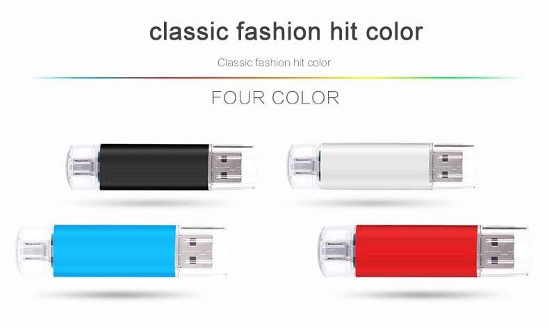 Mobile phone dual purpose OTG USB Android plug 32G flash disk  flashdisk  flash drive Memory Card blue yd-09 32G 3