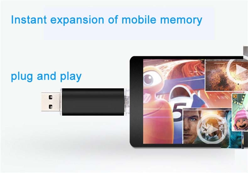 Mobile phone dual purpose OTG USB Android plug 32G flash disk  flashdisk  flash drive Memory Card blue yd-09 32G 4