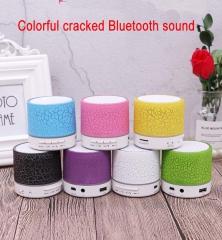 Mini Portable Wireless Bluetooth Speaker LED light emitting small speaker MP3 USB Stereo Player yellow 3w Small crack