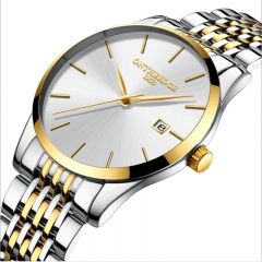 Ultra thin men's fine steel band quartz men's calendar waterproof watch wholesale wrist watch White Phnom Penh rzy023