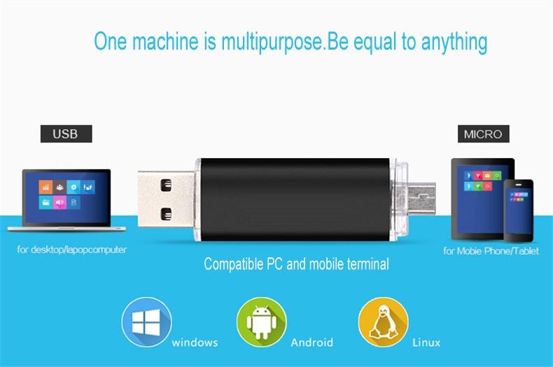 Mobile phone dual purpose OTG USB Android plug 32G flash disk  flashdisk  flash drive Memory Card blue yd-09 32G 1