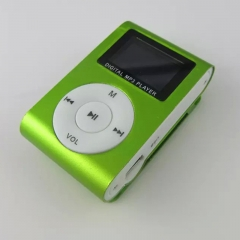 World Cup Mini Digital Portable Music MP3 Player With Display Screens Micro TF Card FM Radio green