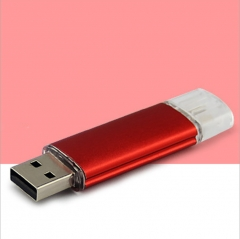 Mobile phone dual purpose plug U disk  OTG USB Android general mobile storage flash disk  4G8G16G32G red otg 4g