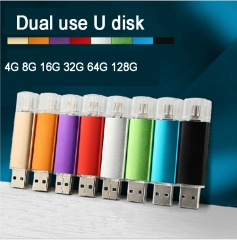 Mobile phone dual purpose plug flashdisk 32G OTG USB Android mobile storage flash drive flash disk silvery otg 32g