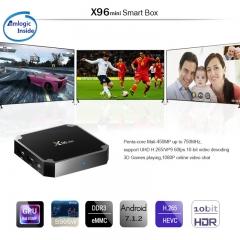 X96 mini Smart TV Box Amlogic Quad Core 1GB 8GB Android 7.1 TV Box Wifi British standard plug