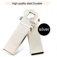 Metal rotating U disc 32G business gifts creative USB disk flash disk flashdisk silvery 005 32g