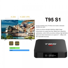 T95 S1 2+16G network set top box 4K high definition intelligent remote control network TV box