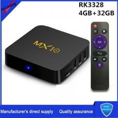 MX10 4K HD network set-top box RK3328 TV BOX 4+32GB 7.1 system 3.0USB HD network player