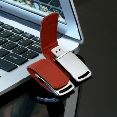 New premium leather cover flash disk 4G 16G 32G 64G  flash drive flashdisk flash drive brown tyxh 4g