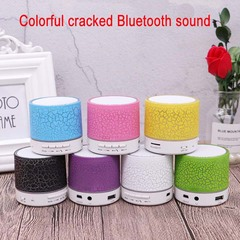 Mini Portable Wireless Bluetooth Speaker LED light emitting small speaker MP3 USB Stereo Player pink. 3w Small crack