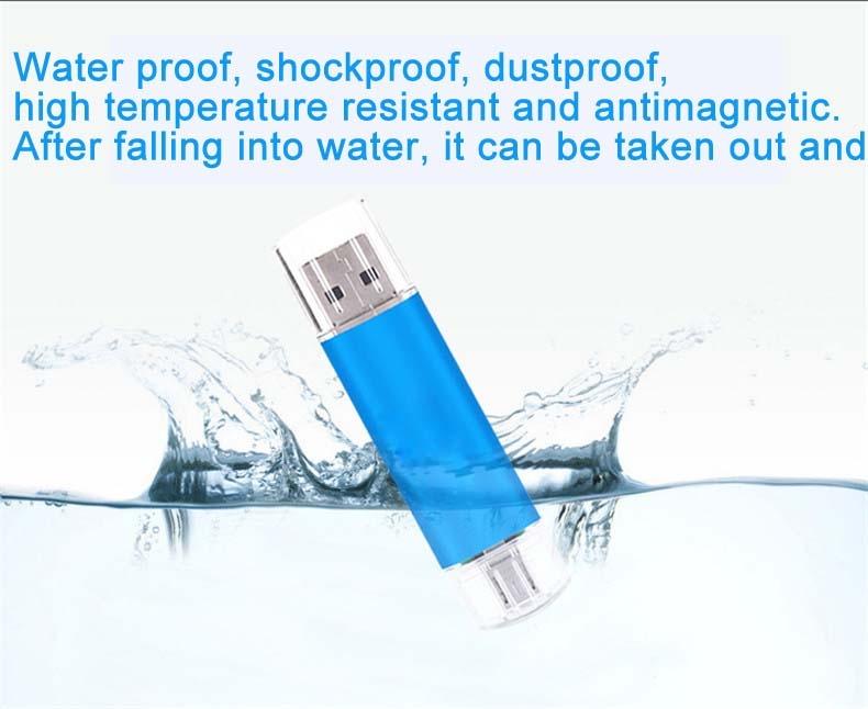 Mobile phone dual purpose OTG USB Android plug 32G flash disk  flashdisk  flash drive Memory Card blue yd-09 32G 7