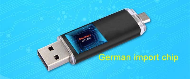 Mobile phone dual purpose OTG USB Android plug 32G flash disk  flashdisk  flash drive Memory Card blue yd-09 32G 5