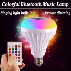 Intelligent Bluetooth music bulb Bluetooth speaker wireless remote control audio loudspeaker sound white null e27