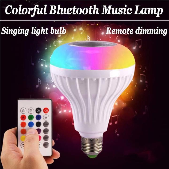 Intelligent Bluetooth music bulb Bluetooth speaker wireless remote control audio white null e27