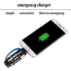 Portable Multifunctional Emergency Dry Battery Charger for Mobile Phone Applicable to Android Plug colour Dry battery