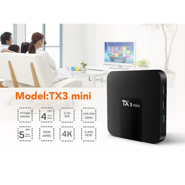 TX3 mini S905W 1g/8g High definition network set-top box Android 4K player Android 7.1